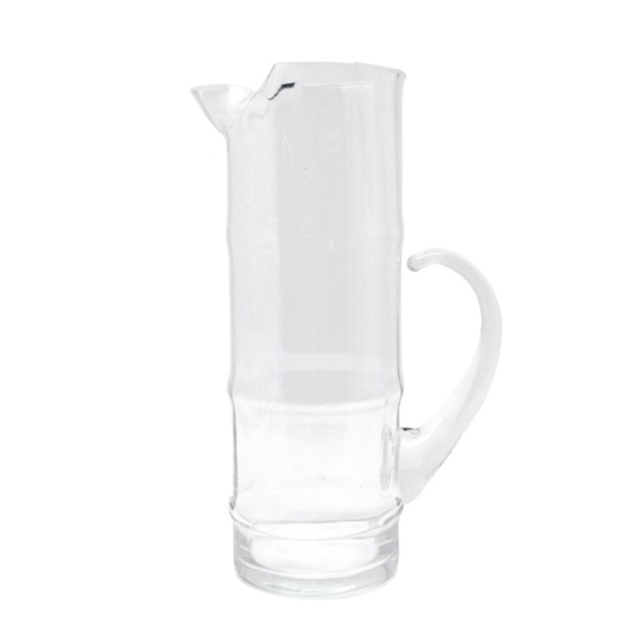 Vintage West Virginia Bamboo Glass Pitcher